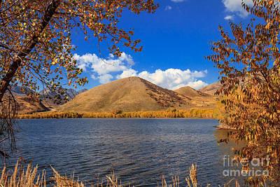 Fall At Mantua Reservoir Print by Robert Bales