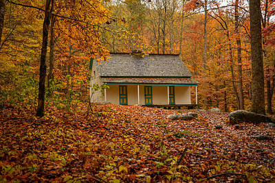 Fall At The Alfred Reagan Place Print by Matt and Delia Hills Photography