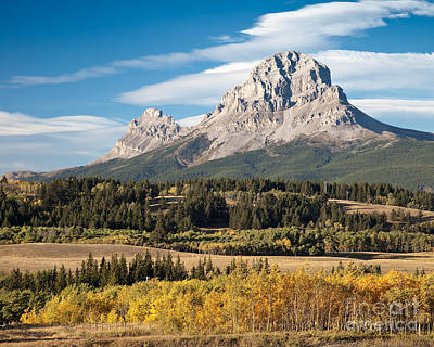 Fall At The Crowsnest Print by Royce Howland