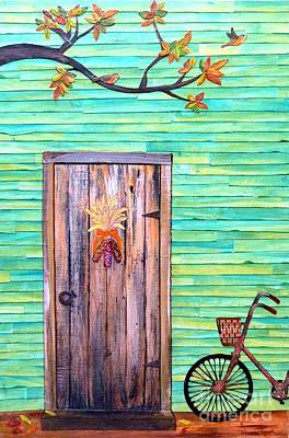 Autumn Landscape Mixed Media - Fall At The Doorstep by Desiree Paquette