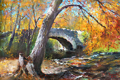 Creek Painting - Fall At Three Sisters Islands by Ylli Haruni