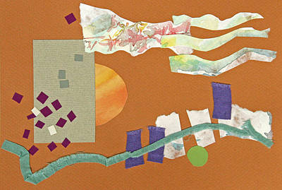 Fabric Mixed Media - Fall Clouds by Eileen Hale