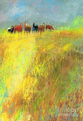 Fall Day On The Mesa Print by Frances Marino