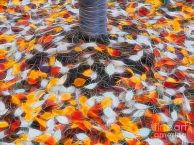 Leaves Photograph - Fall Fractal Carpet by Scott Cameron