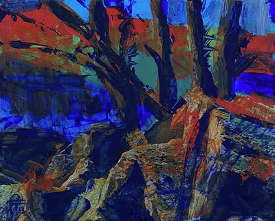 Yosemite National Park Mixed Media - Fall Hiking Trail 1 by Walter Fahmy