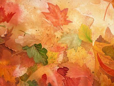 Fall Impressions Iv Print by Irina Sztukowski