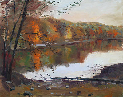 Landscapes Lakes Painting - Fall In 7 Lakes by Ylli Haruni