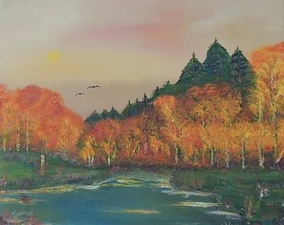 Lassen Painting - Fall In Mt Lassen National Park by Traci Hallstrom