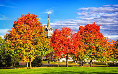 Zion Lutheran Church Photograph - Fall In The Country by Carolyn Derstine