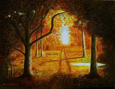 Fall In The Woods Print by Gene Gregory