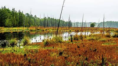 Landscape Photograph - Fall Lake Landscape by Louis Dallara