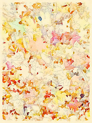 Fall Leaves Backdrop Print by Janet Dodrill