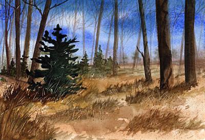 Fall Meadow Print by Sean Seal