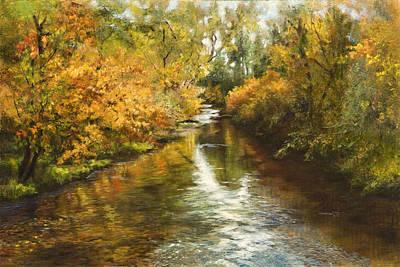 Fall Reflections Print by Jan Hardenburger