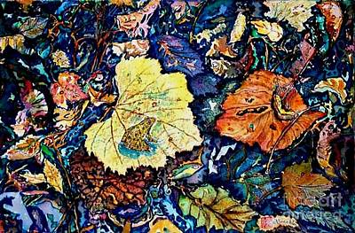 Frogs Tapestries Textiles Painting - Fall Review by Norma Boeckler