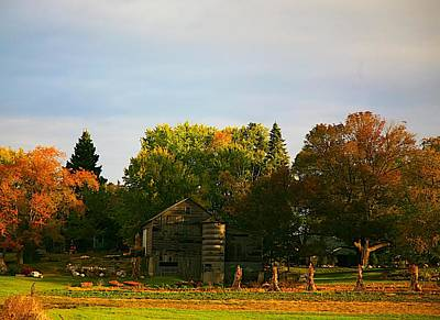 Fall Time On The Farm Print by Robert Pearson