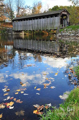 Autumn Photograph - Fallasburg Covered Bridge 16 by Terri Gostola