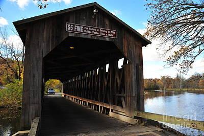 Road Photograph - Fallasburg Covered Bridge 7 by Terri Gostola