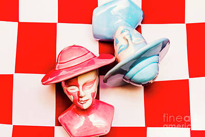Checkmate Photograph - Fallen King And Queen On Chess Board by Jorgo Photography - Wall Art Gallery