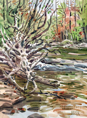 Foliage Painting - Fallen Tree At Sope Creek by Donald Maier