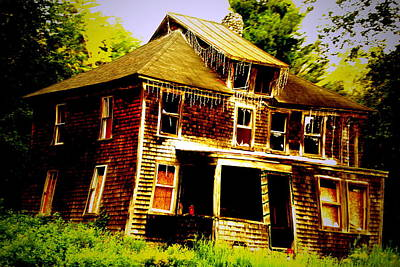 Abandoned House Photograph - Falling Down by Emily Stauring