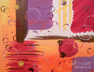 Abstract Handbag Painting - Falling Into Place by Jilian Cramb - AMothersFineArt