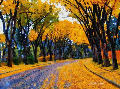 November Painting - Falling Street - Pa by Leonardo Digenio