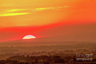 Falling Sun Print by Robert Bales