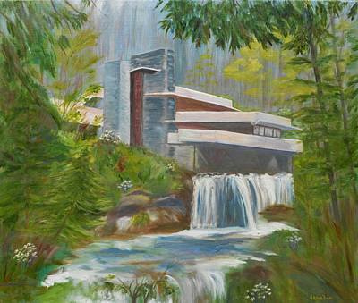 Frank Lloyd Wright Painting - Falling Water by Jamie Frier
