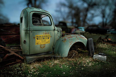 Vintage Truck Photograph - Fallon Excavating Co. by YoPedro