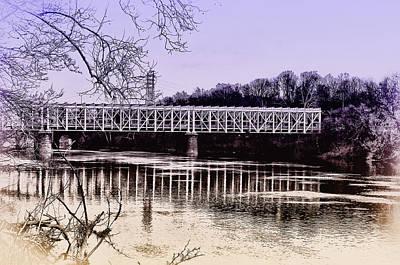 Fairmount Digital Art - Falls Bridge by Bill Cannon