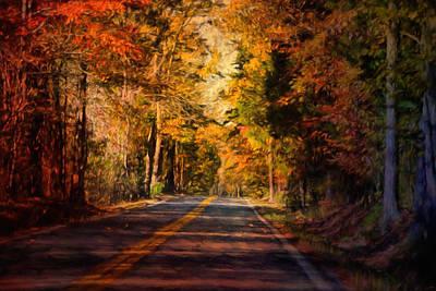 Autumn Scenes Photograph - Falls Guiding Light by Jai Johnson
