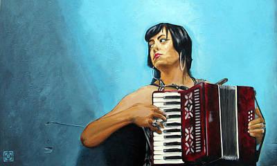 Nashville Painting - Fally by Leo Hayden