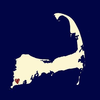 Code Mixed Media - Falmouth Cape Cod V1 by Brandi Fitzgerald