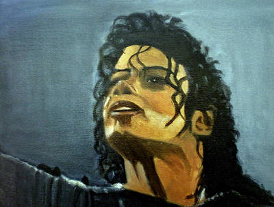 Michael Jackson Oil Painting - Fame by Ann Mary Bougatsos