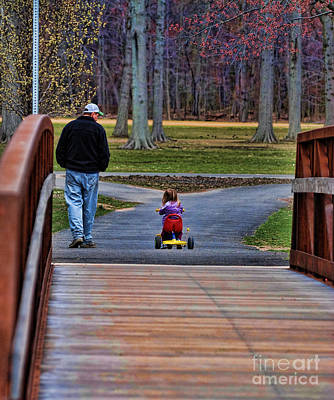 A Moment Photograph - Family - A Father's Love by Paul Ward