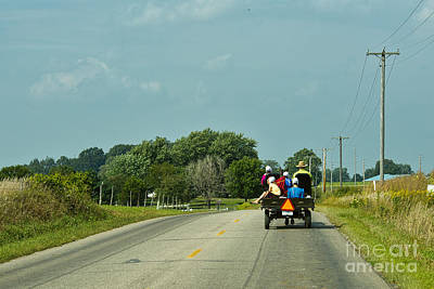 Amish Photograph - Family Day Out by David Arment