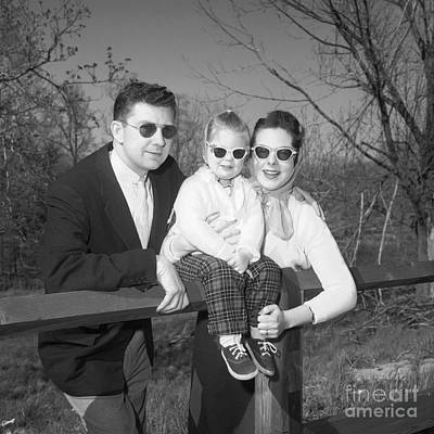 Family Portrait With Sunglasses, C.1950s Print by J. Rogers/ClassicStock