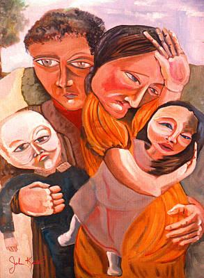 Family Struggle Print by John Keaton