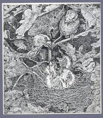 Venkat Drawing - Family by Venkat Meruvu