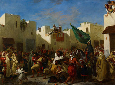 Fanatics Of Tangier Print by Eugene Delacroix
