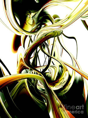 Mythical Glass Art Digital Art - Fanciful Abstract by Alexander Butler