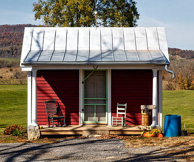 Rocking Chairs Photograph - Fancy Outhouse by Mountain Dreams