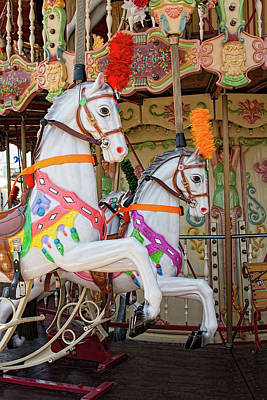 Carousel Horse Photograph - Fancy Prancers by Kristia Adams