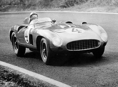 Circuit Photograph - Fangio Here At The Wheel During Great Sweden Prize Race  by Italian School