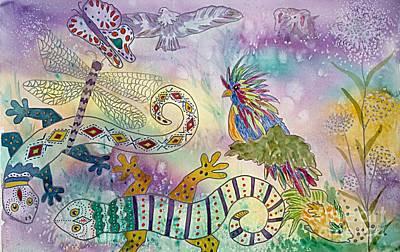 Queen Anne Painting - Fantasia Fantasy by Ellen Levinson