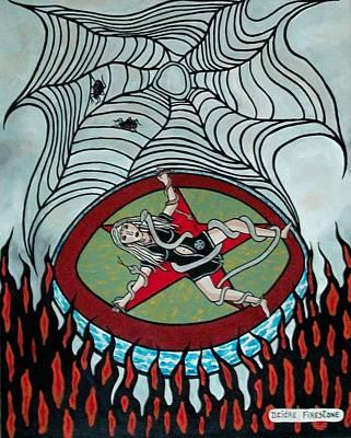 Pentagram Art Painting - Fantasies Of Black Mamba And Me by Deidre Firestone