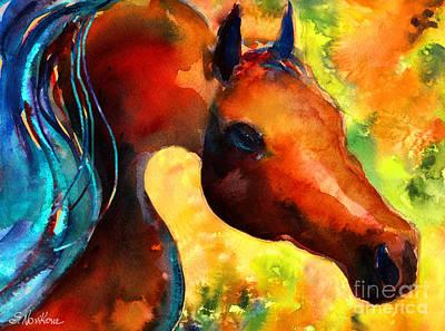 Custom Horse Portrait Drawing - Fantasy Arabian Horse by Svetlana Novikova