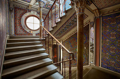 Fantasy Fairytale Palace - The Stairs Print by Dirk Ercken
