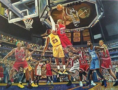 Kobe Painting - Fantasy League by Jason Majiq Holmes